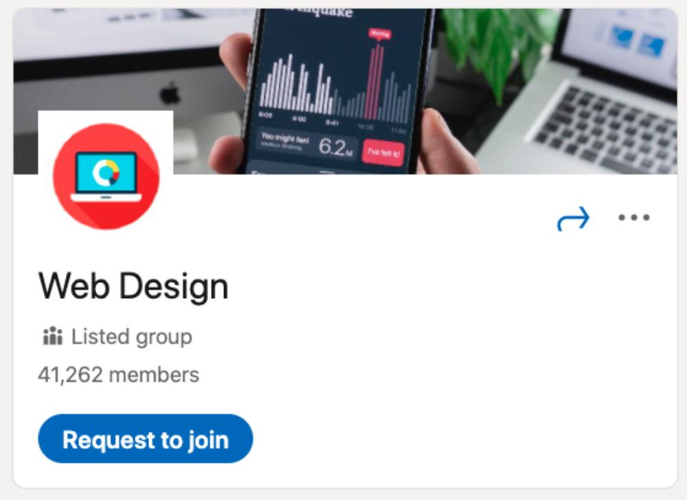 Web Design LinkedIn Group for designers and developers
