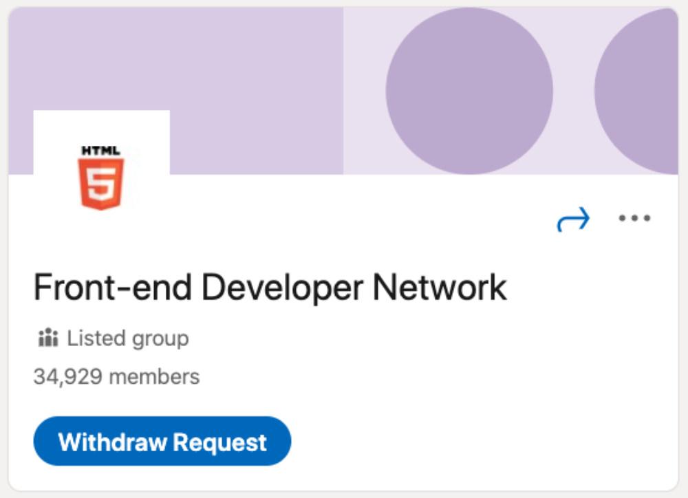 Front-end Developer Network LinkedIn Group for designers and developers