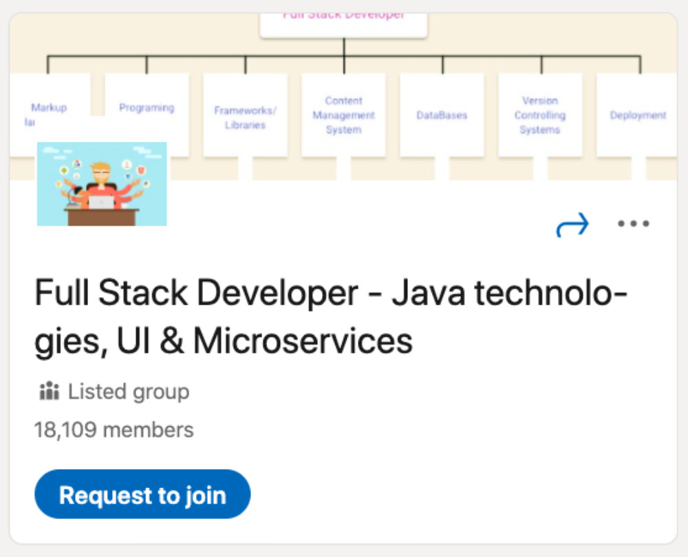 Full Stack Developer - Java technologies, UI and Microservices LinkedIn Group for designers and developers