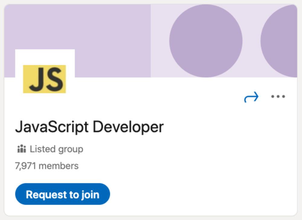 JavaScript Developer LinkedIn Group for designers and developers