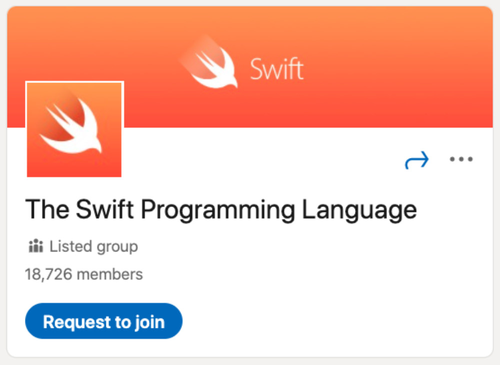 The Swift Programming Language LinkedIn Group for designers and developers