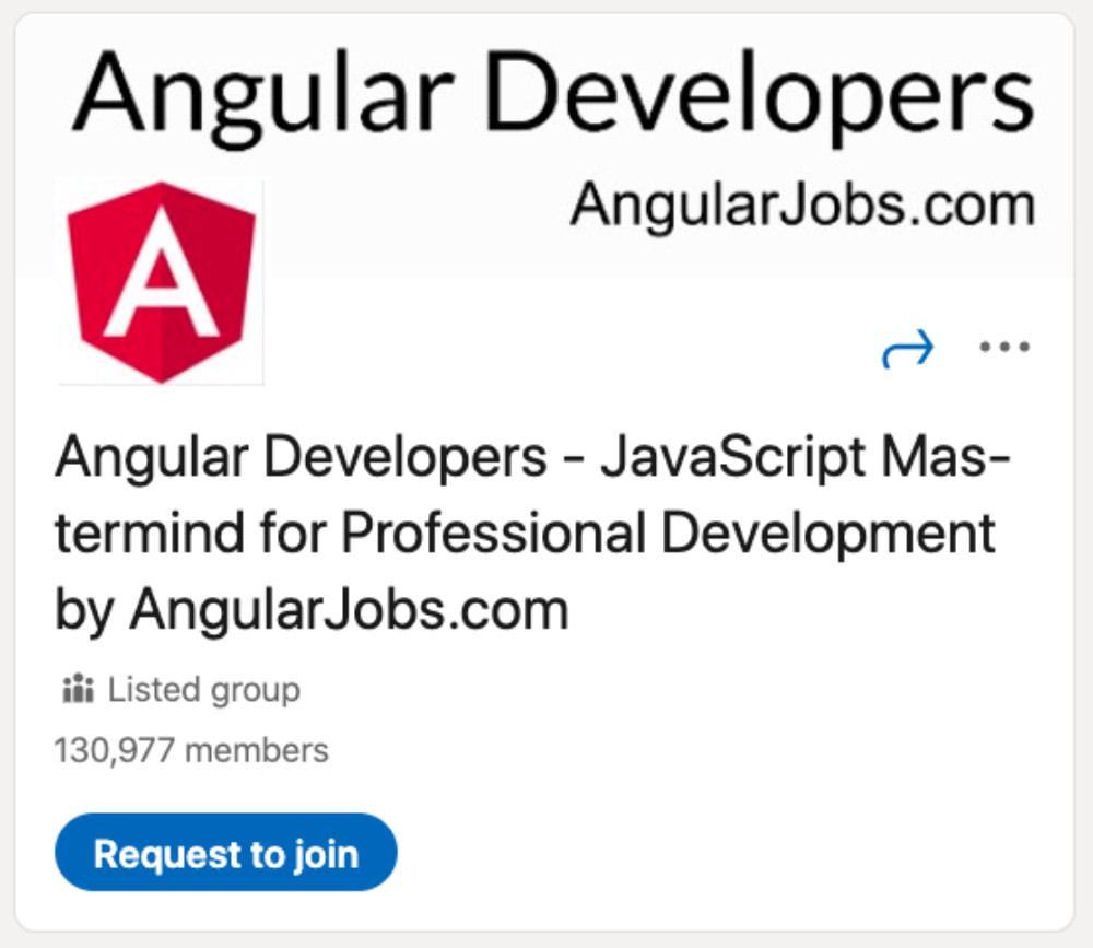 Angular Developers LinkedIn Group for designers and developers