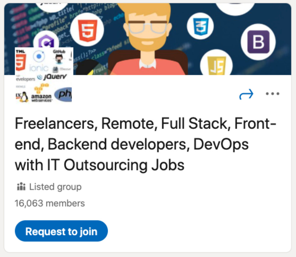 Freelancers, Remote, Full Stack, Frontend, Backend developers, DevOps with IT Outsourcing Jobs LinkedIn Group for designers and developers