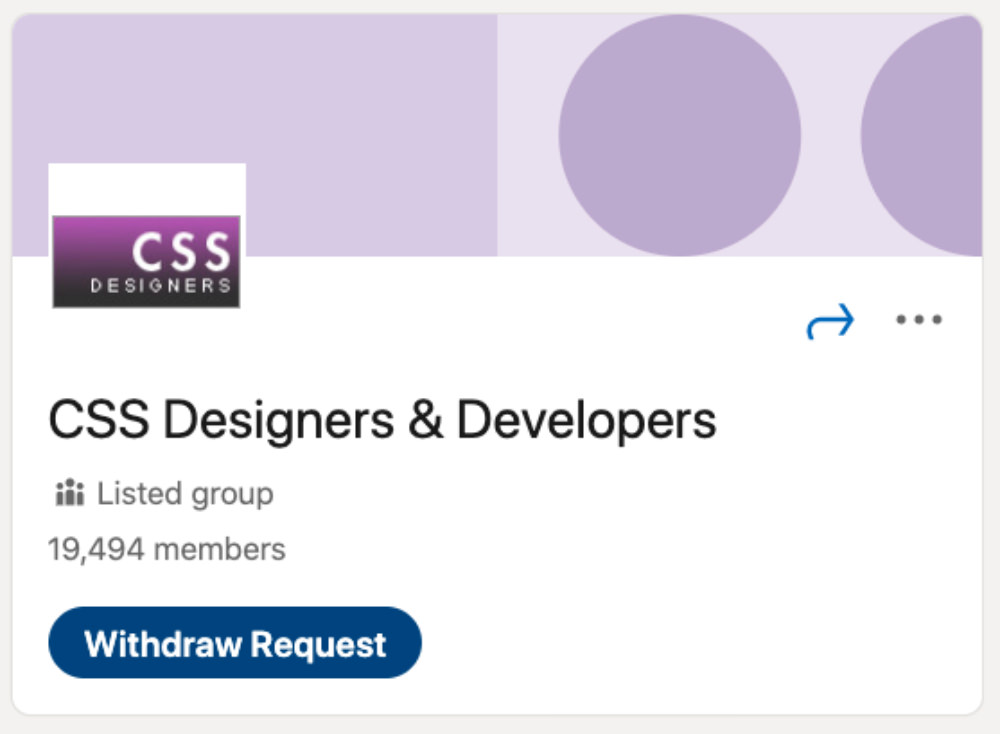 CSS Designers and Developers LinkedIn Group for designers and developers