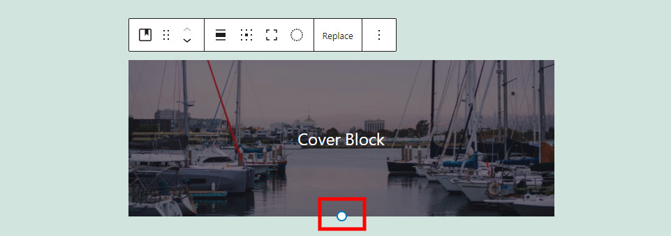 Cover Block Resize
