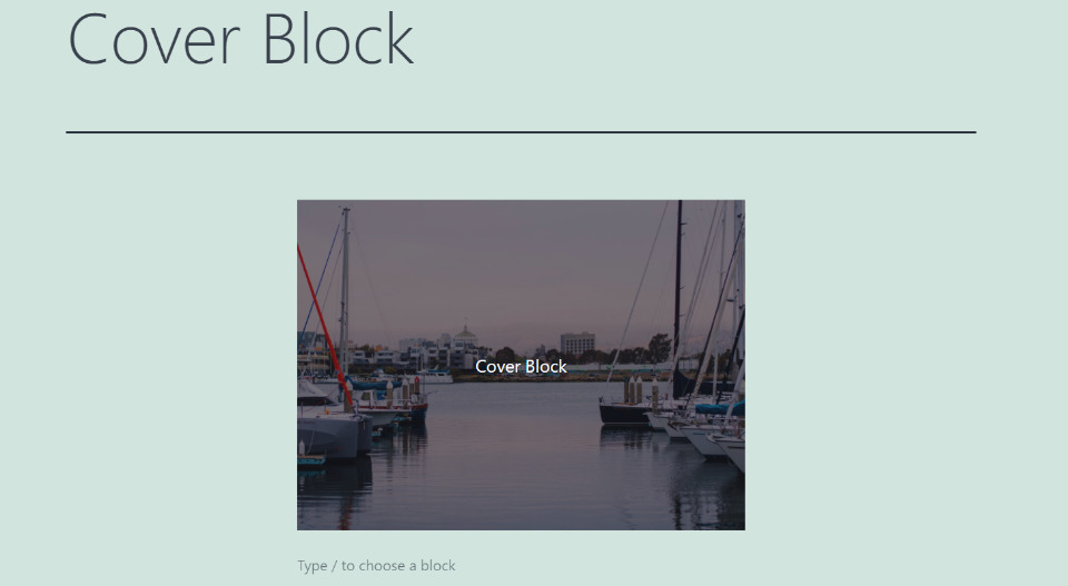 How to Add the Cover Block to your Post or Page