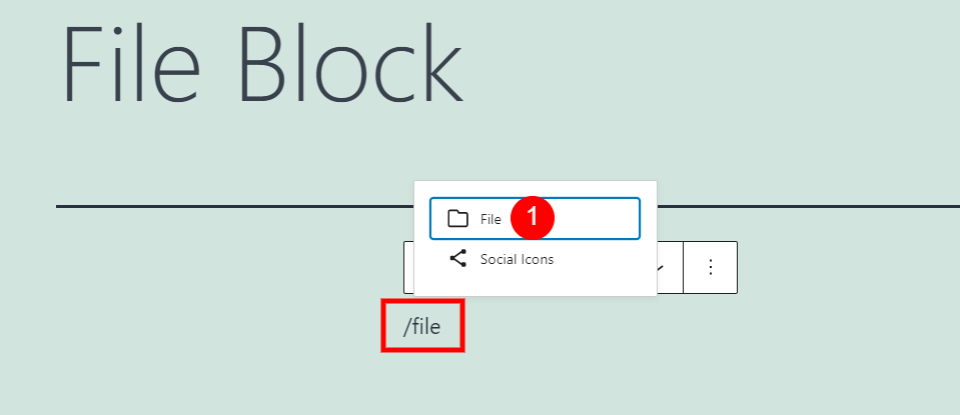How to Add the File Block to your Post or Page