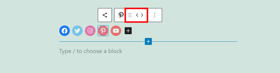 Icons Toolbar Drag and Move