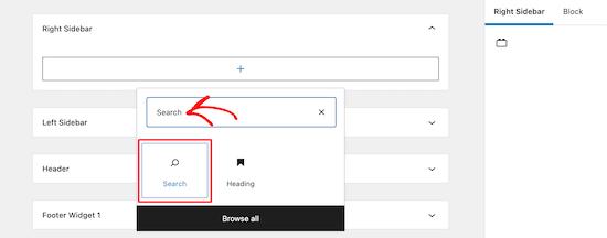 Add new search block
