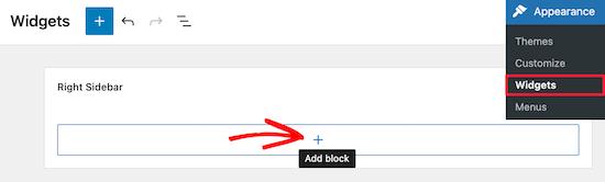 Add new widget block for search