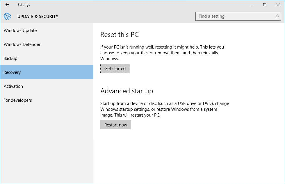 At last, Reset your PC