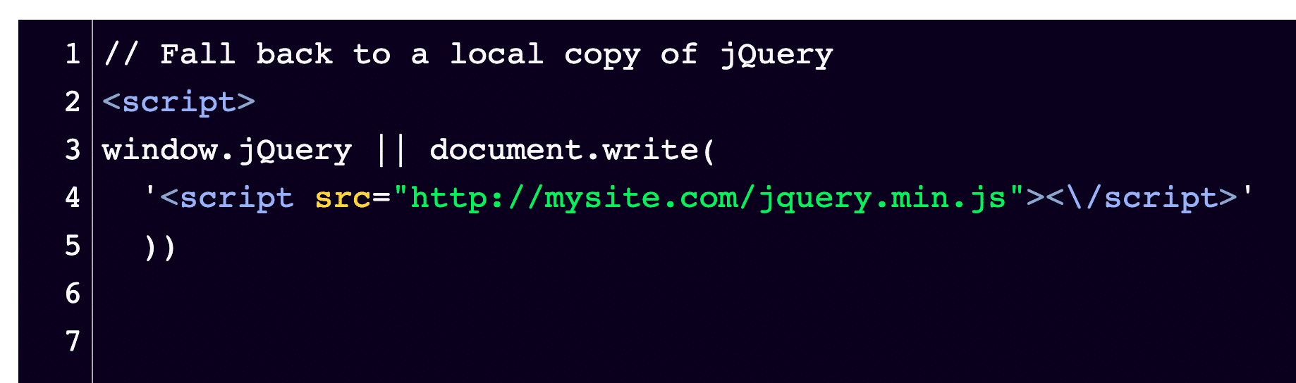 With the note at the beginning, this is what your snippet of code should look like.