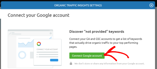 Connect Google account