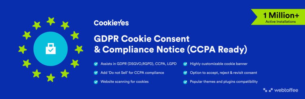 cookieyes: one of the best wordpress gdpr plugins