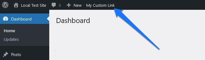 custom parent link in wordpress admin toolbar