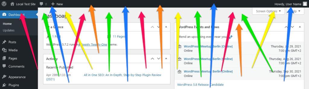 customize wordpress admin toolbar 2