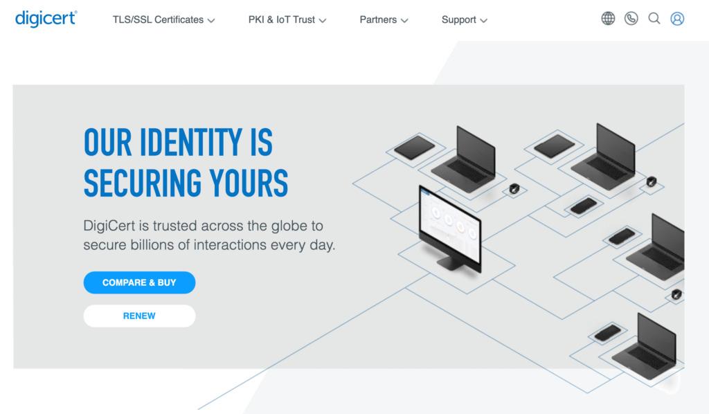 The DigiCert website.