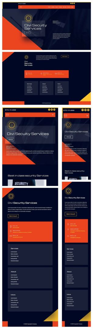 security services header footer