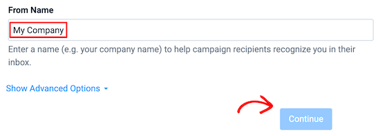 Enter email from name
