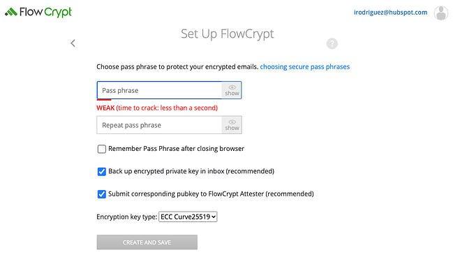 Flowcrypt Chrome extension