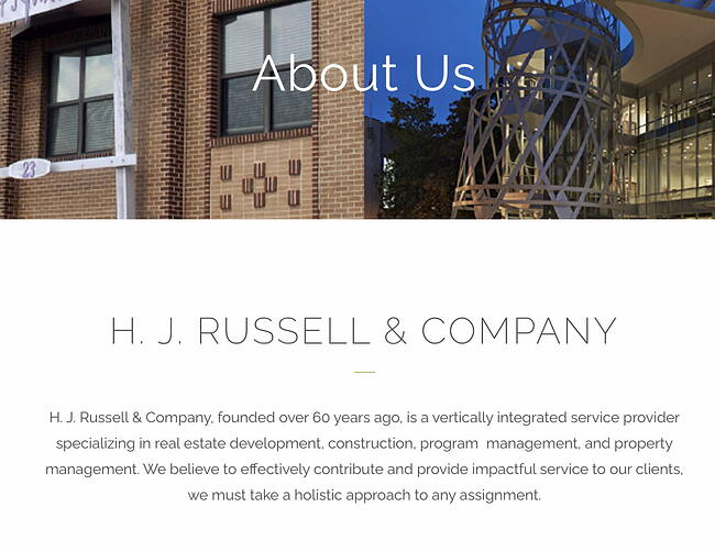 Company description example: H&J Russell