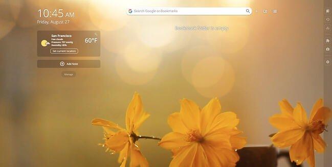 Homey New Tab Chrome extension