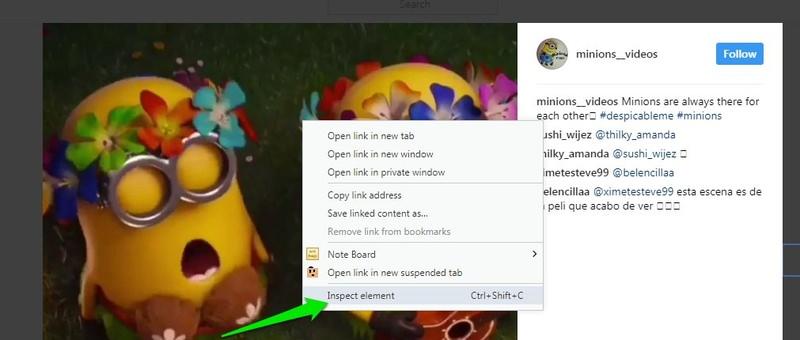 click inspect element