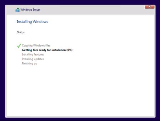 Installation of Windows 11