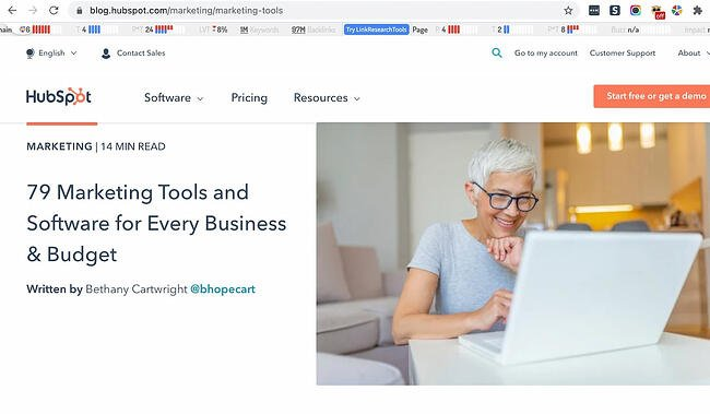 Link Research SEO Toolbar Chrome extension