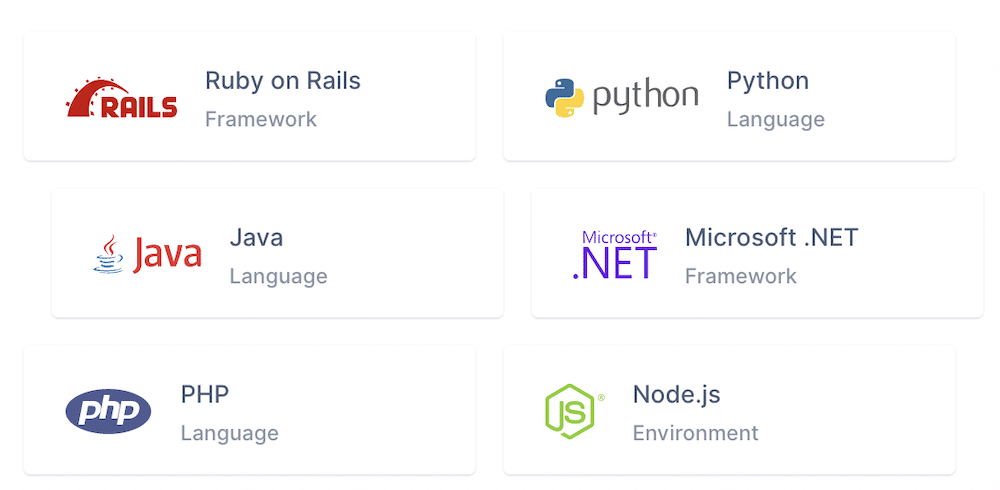 A table of languages you can use with Mailgun's API.