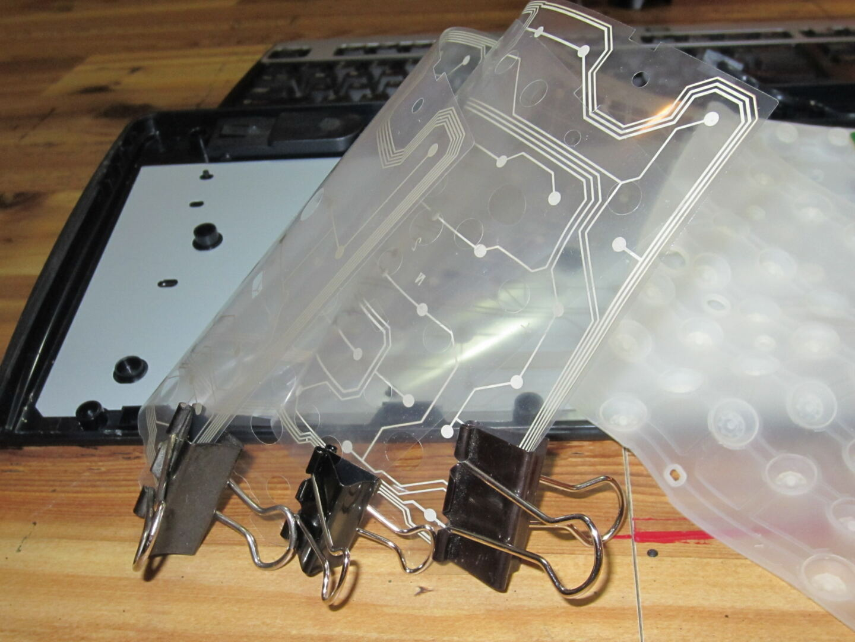 Inside of a membrane keyboard