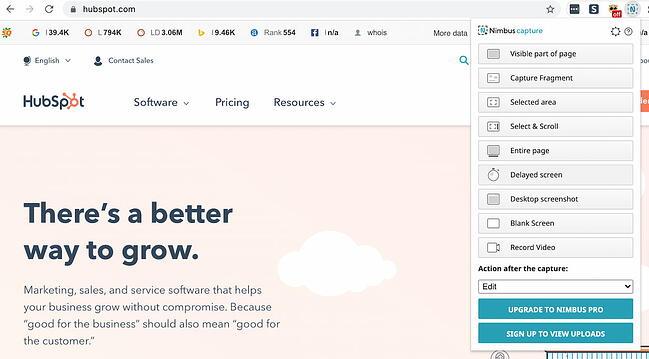 Nimbus Screenshot Chrome extension