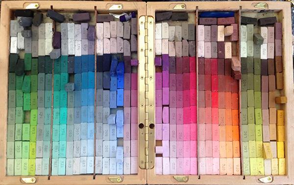 pastels-organized-neatly