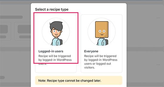 Recipe type