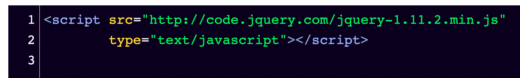 Your snippet of text should look like this in your code editor.