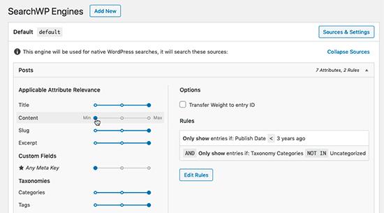 SearchWP engines example
