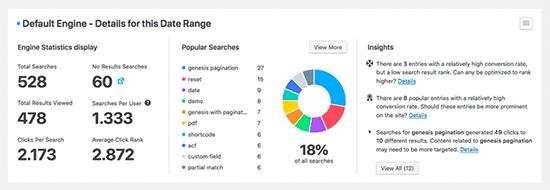 SearchWP metrics example