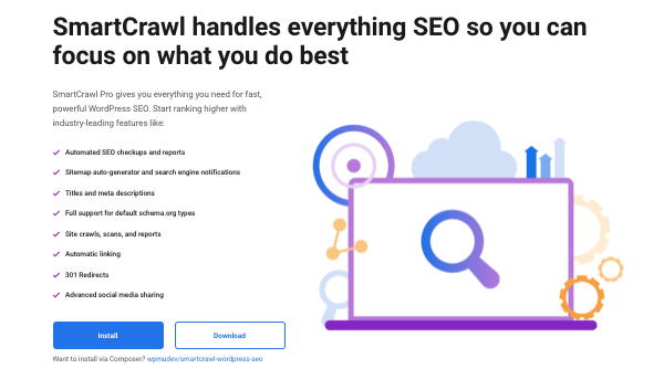 A preview of our WordPress SEO plugin, SmartCrawl