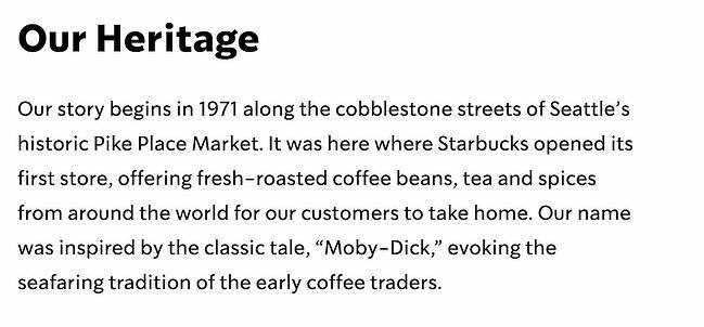 Company profile example: Starbucks