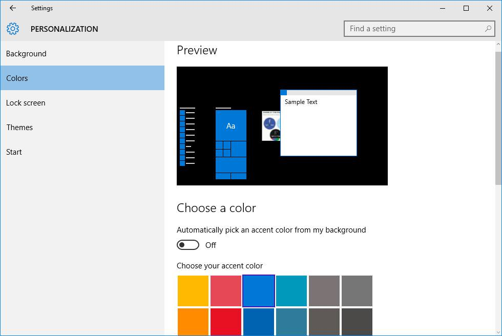 Turn off Dynamic Color Adaptation