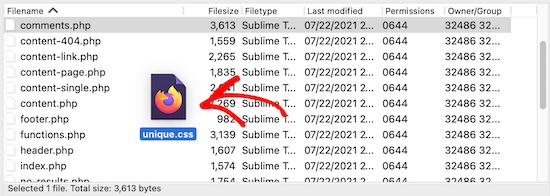 Upload new CSS file