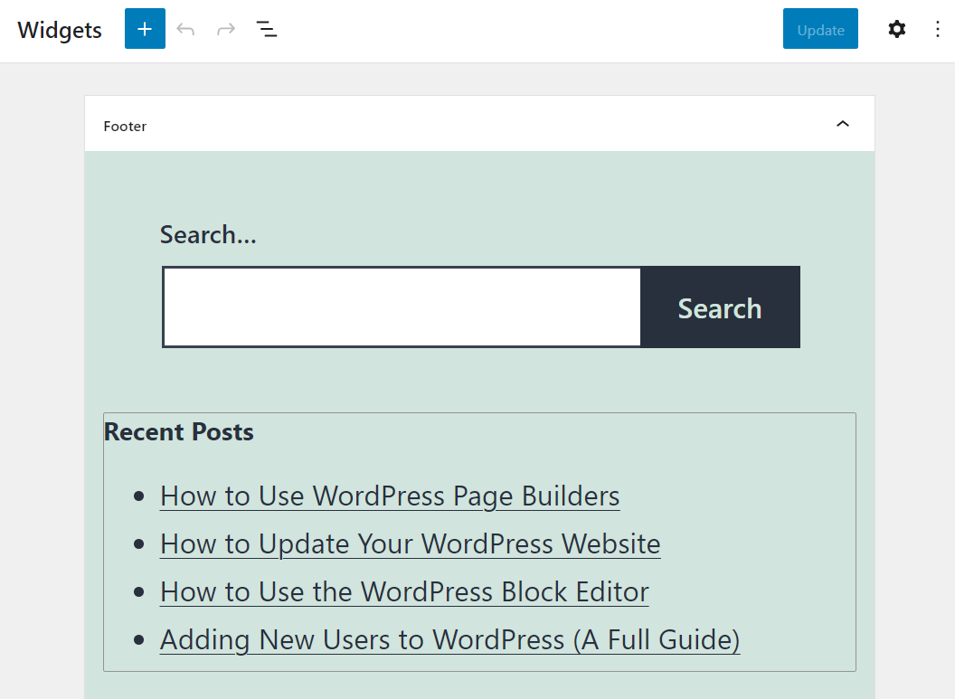 Adding a Recent Posts section to a widget area
