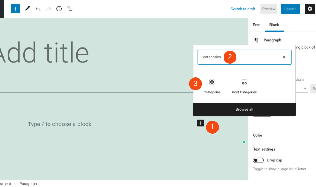 How to Use the WordPress Categories Block