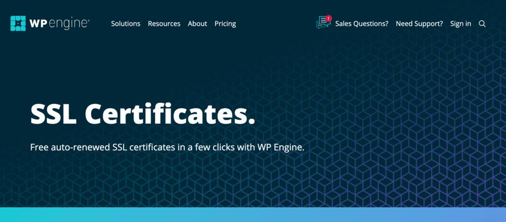 The WP Engine web hosting provider.
