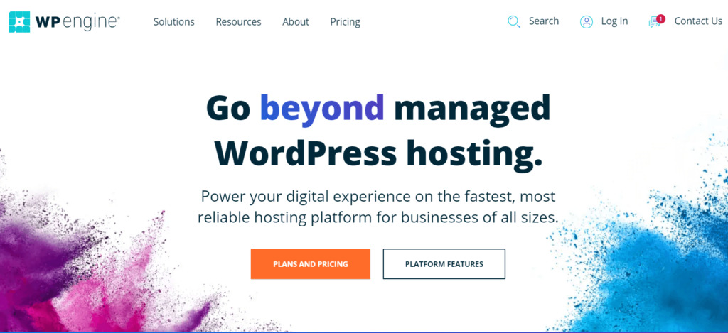 The WP Engine hosting service homepage