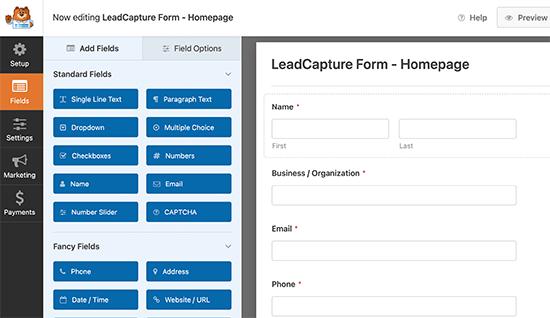 WPForms form builder