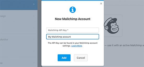 WPForms mailchimp API key