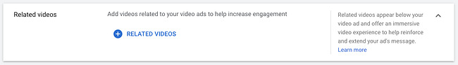 How to advertise on YouTube: Add related videos