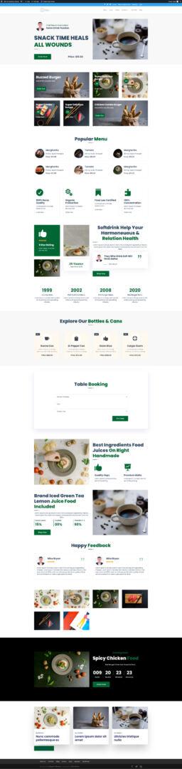 Ultimate Divi Modules UI Bundle Restaurant and Cafe