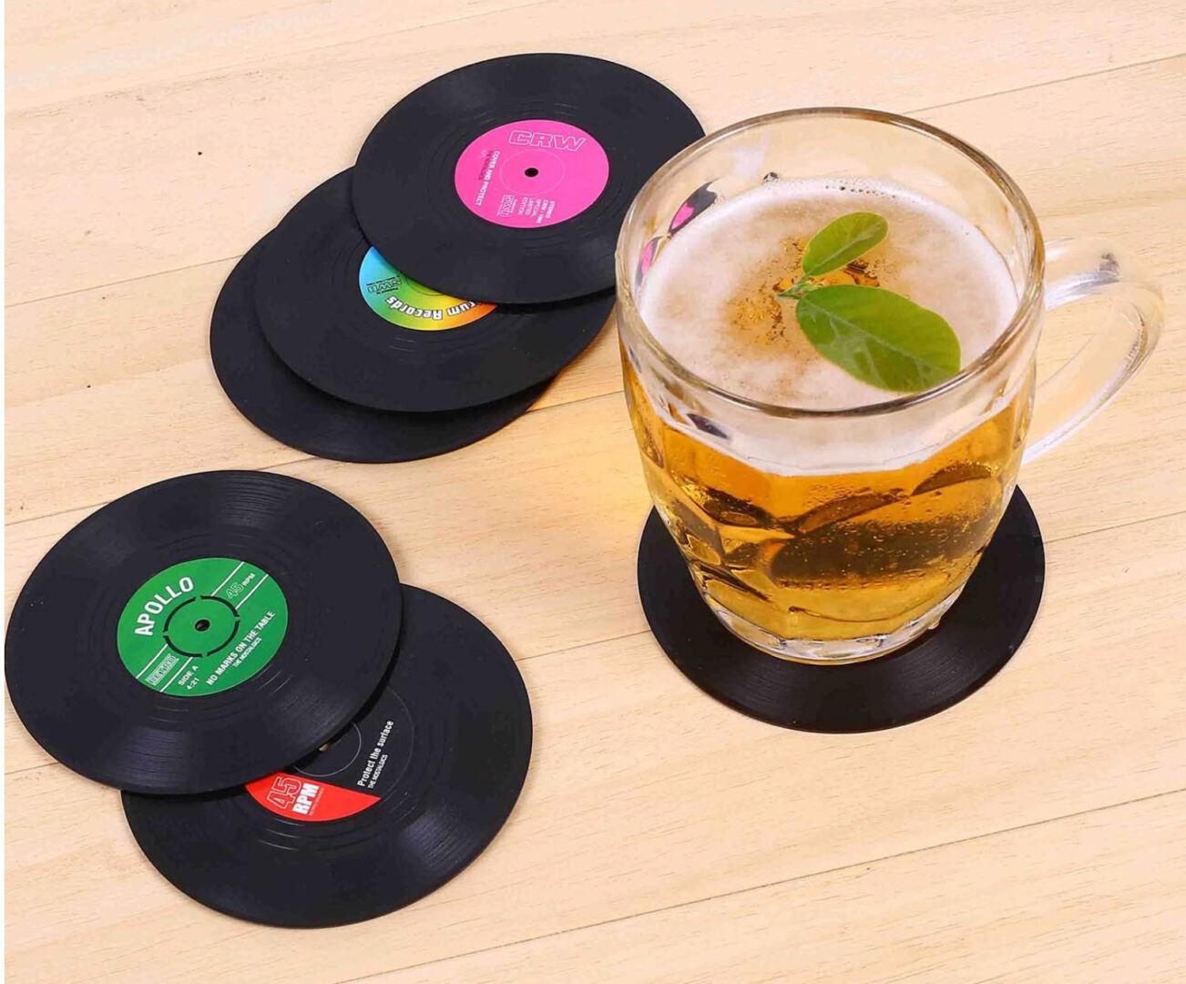 Vinyl Record Disk Coasters